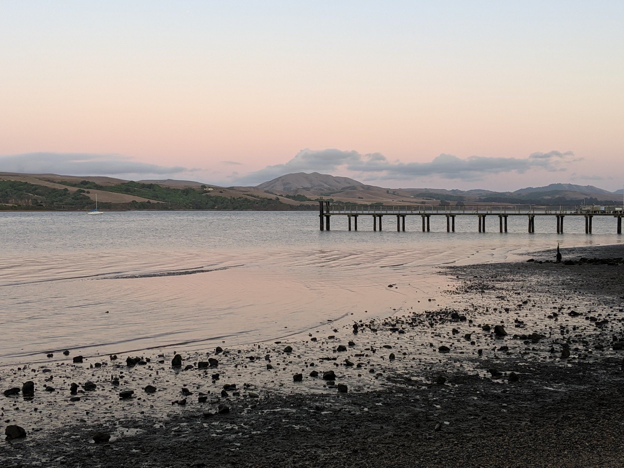Sunset at Tomales Bay, Inverness, Ca