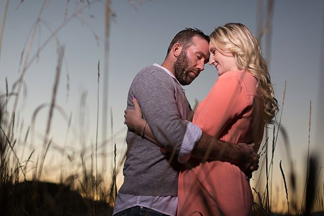 Sunset and long grass are the perfect combination for engagement.