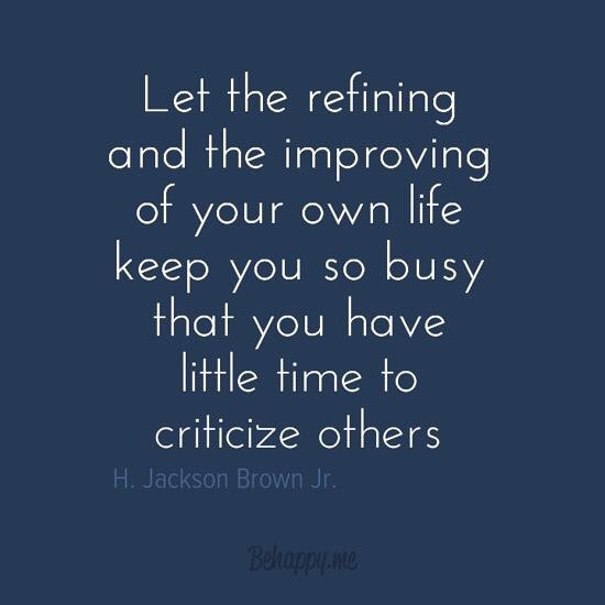 """""""Let the refining and the improving of your own life keep you so busy that you have little time to criticize others"""" - H. Jackson Brown, Jr. ... #bethechange #striveforgreatness #aintnobodygottimeforthat #mostpowerfuljobintheworld #apparentlyhegottime🤷🏼♀️ #micdrop #BeBest  #lebronjames #kingjames #justakidfromakron #morethananathlete #ipromiseschool"""