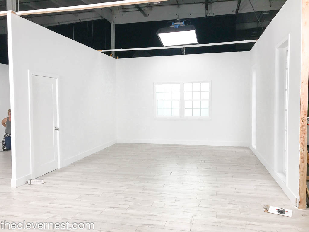 A blank room set with white walls used for Design Vs. Design