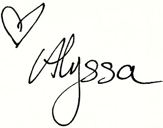 handwritten signature with a heart