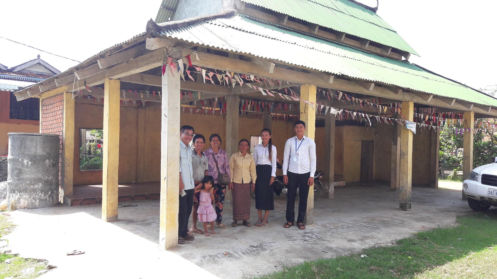 រូបថត៖ ក្រុមការងារអង្គការ ពិនិត្យទីតាំងភូមិមាត់អូរ  Photo: CCAFO Team visit Mort Or Village