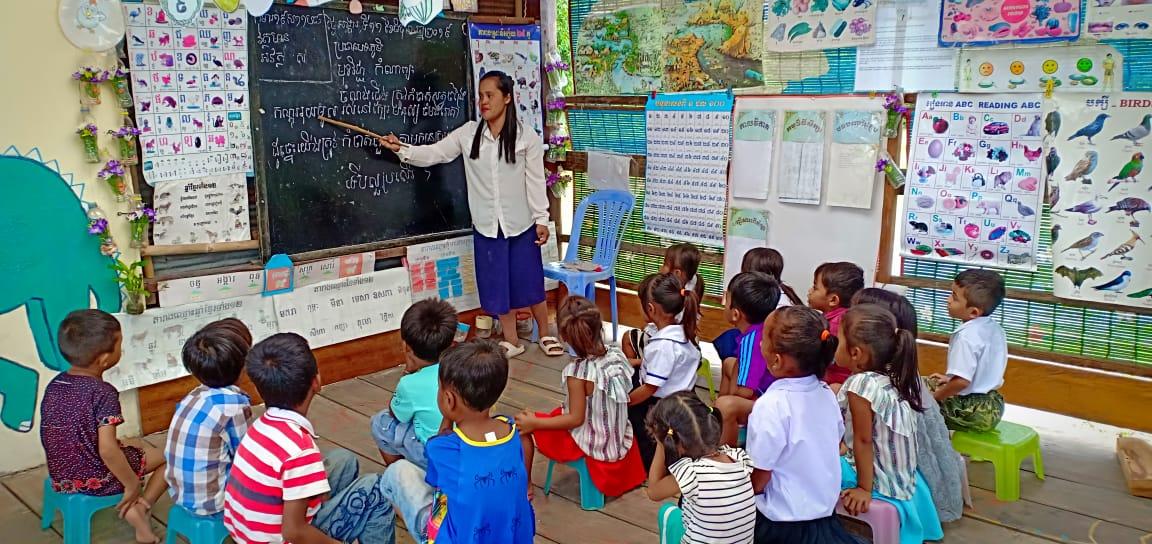 មត្តេយ្យសហគមន៍ភូមិស្រែព្រៃ Sre Prey Village Based Preschool.