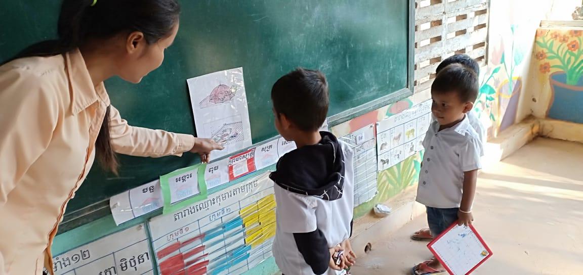 មត្តេយ្យសហគមន៍ភូមិត្រពាំងមន្ត្រៃ Trapeang Montrey Village Based Preschool.
