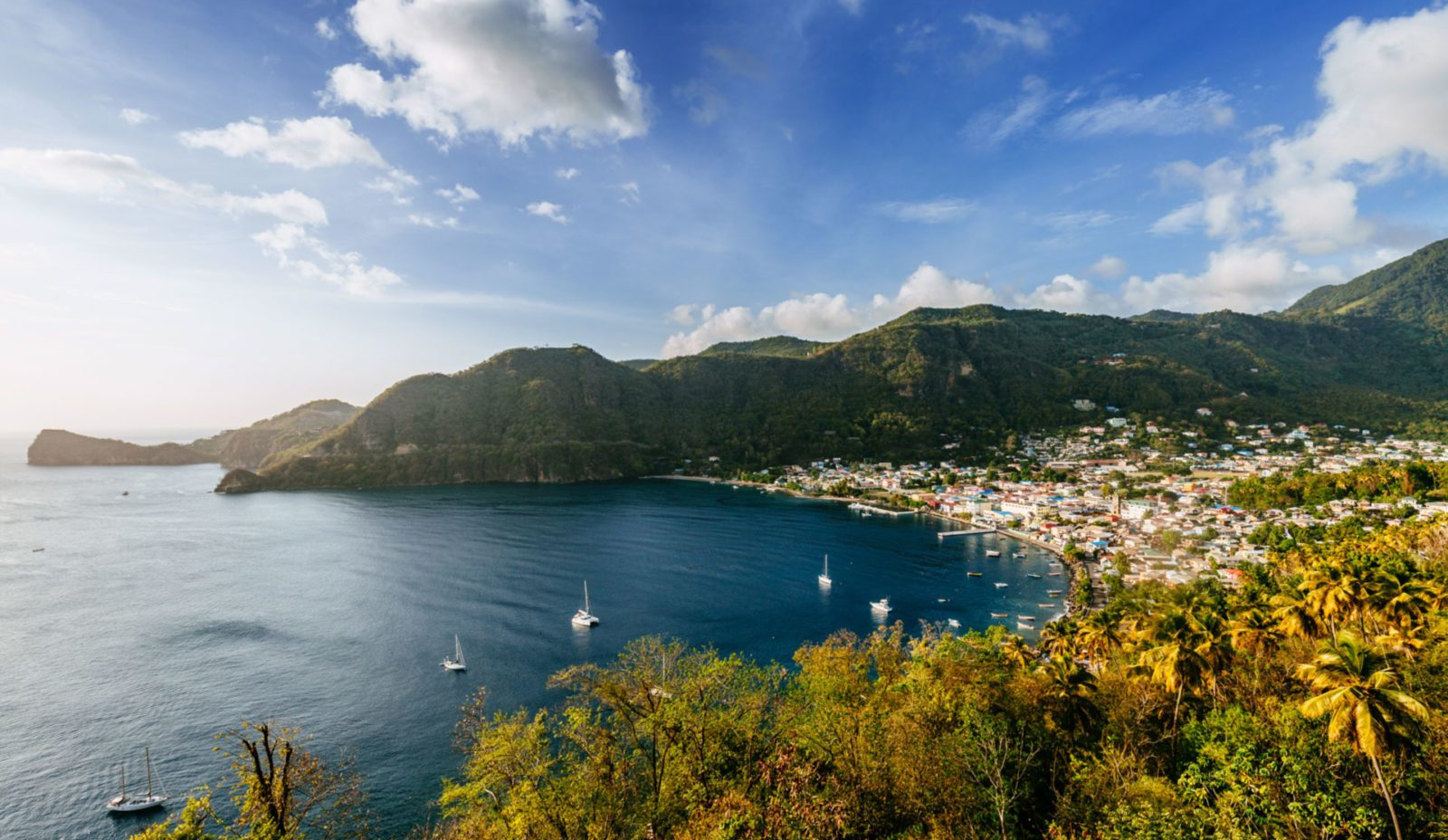 Cosmos is perched just around the corner from Soufrière, a French colonial town booming with local culture.