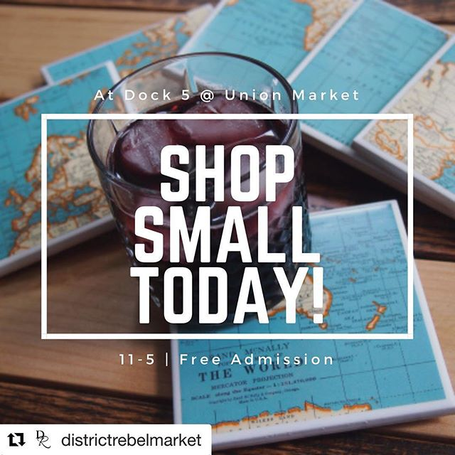 Here and setting up for an exciting day at Union Market!  #Repost @districtrebelmarket with @get_repost ・・・ It's so on! Shop small today and celebrate the awesomeness of our vibrant DMV maker community. @districtrebelmarket is sponsored by @Etsy and takes place at Dock 5 of @unionmarketdc from 11-5. Admission is free and the first 50 shoppers receive a free swag bag! #shopsmall #smallbiz #smallbizsat #etsy #etsyseller #etsypopup #sponsoredbyetsy #backedbyamex #shoplocal #buyhandmade #maker #makersmovement #handmadegifts #shopthedistrict #shopdc #madeindc #acreativedc #thedistrict #202creates #washingtondc