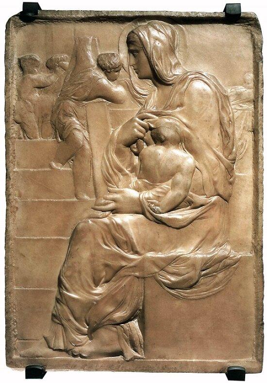 Source:  https://en.wikipedia.org/wiki/Battle_of_the_Centaurs_(Michelangelo)