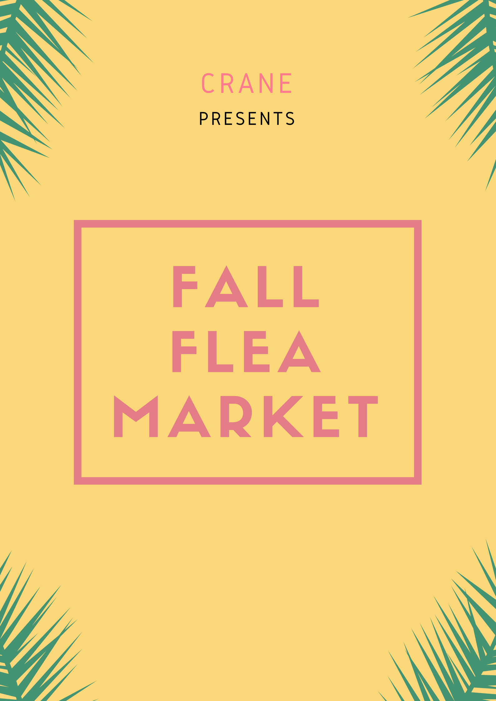 Someone's trash is another one's treasure. Bring your wares to our Flea Market at Crane, and turn them into someone else's treasures. Or maybe even find treasures for yourself from other sellers!