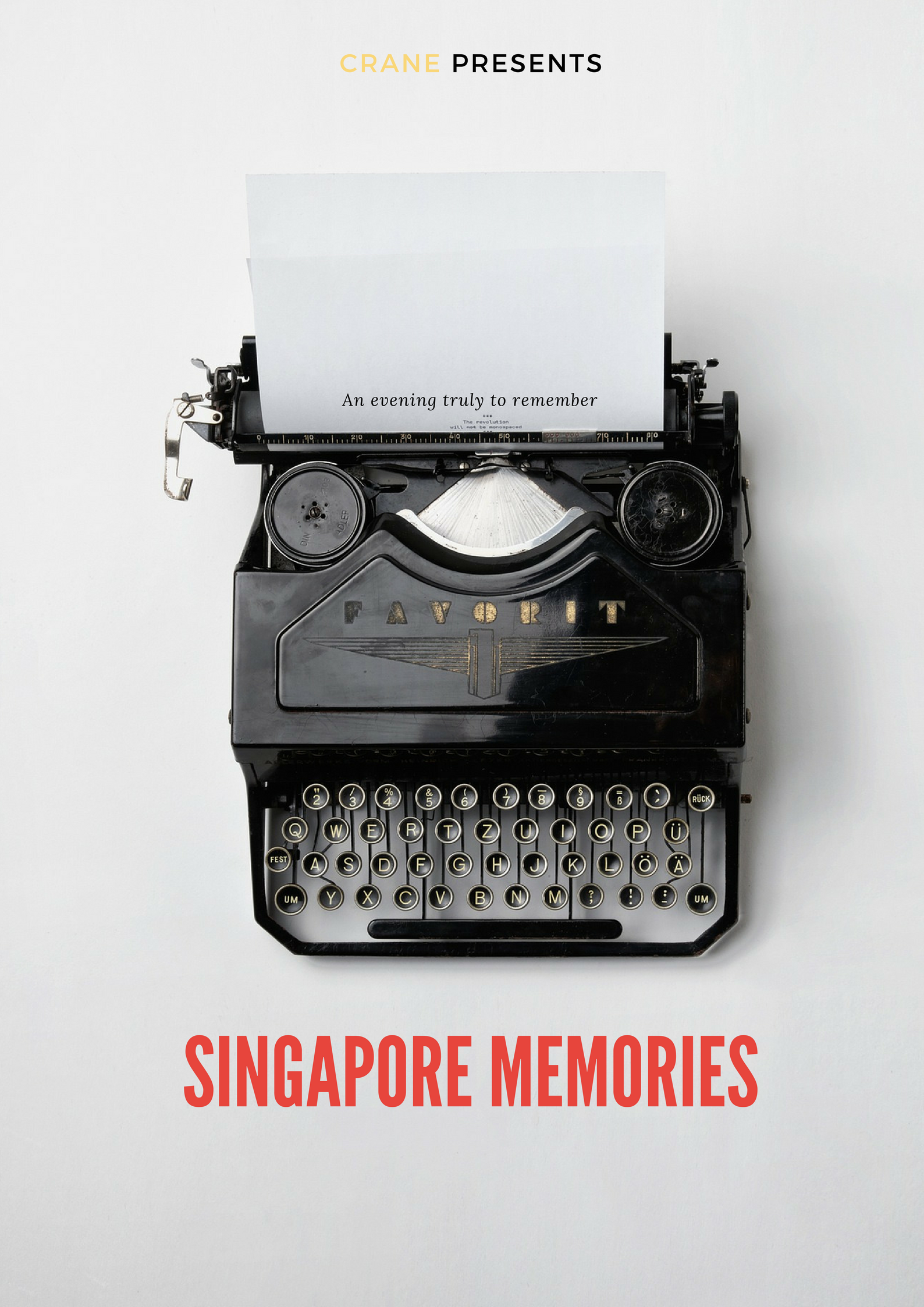 "Come join us in an evening of stories and recollections of ""Singapore Memories"", from people who witnessed the birth of a great nation."