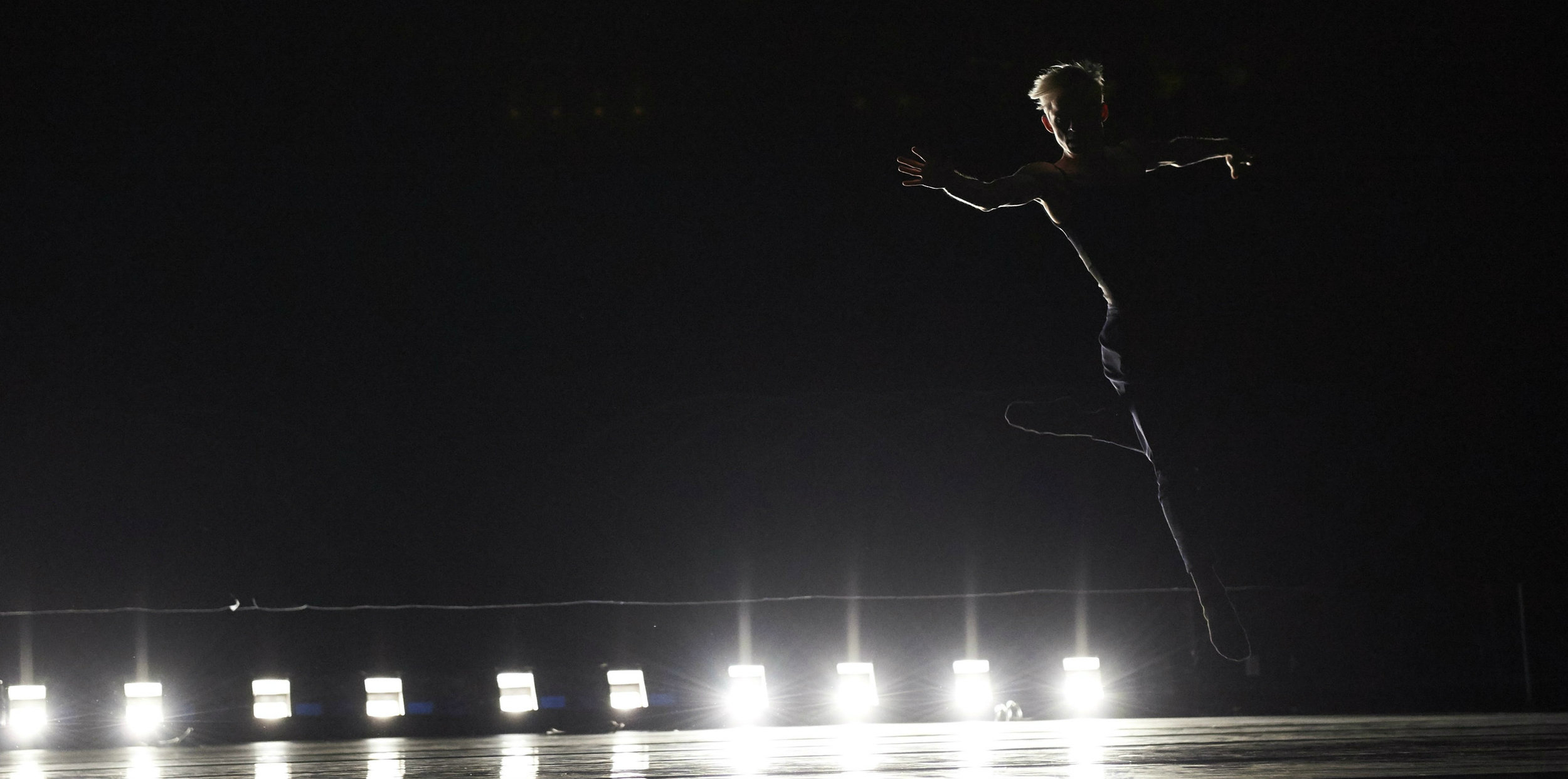 Christian Squires in Dekkers'  Yours is Mine,  lighting design by David Robertson, photo by David DeSilva