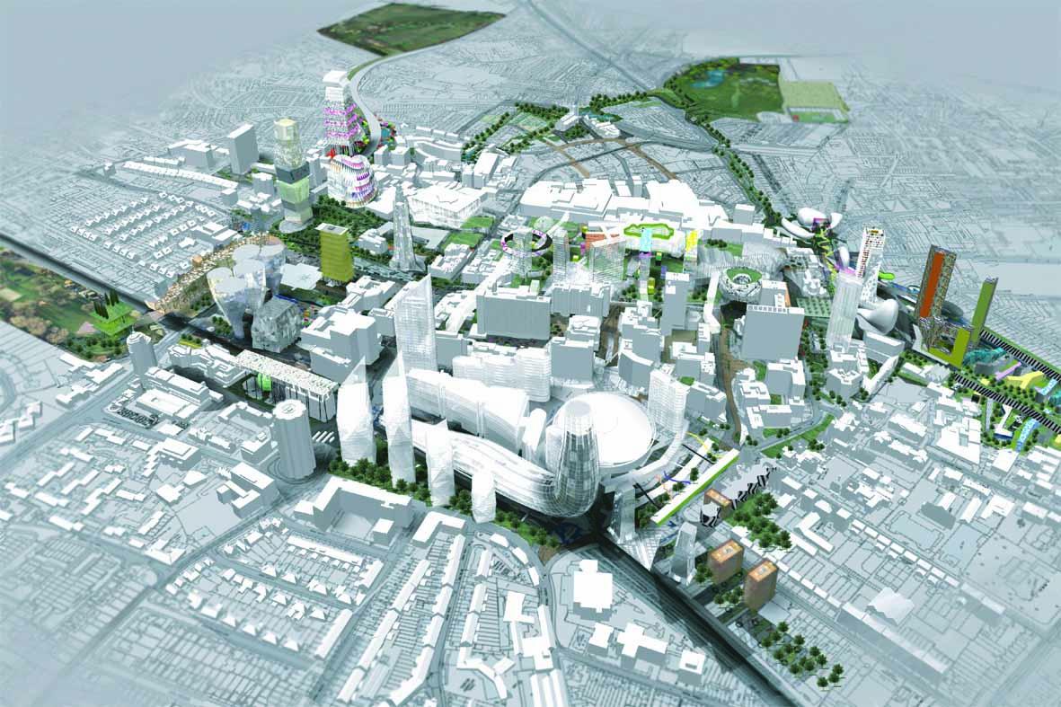 Croydon UK masterplan perspective