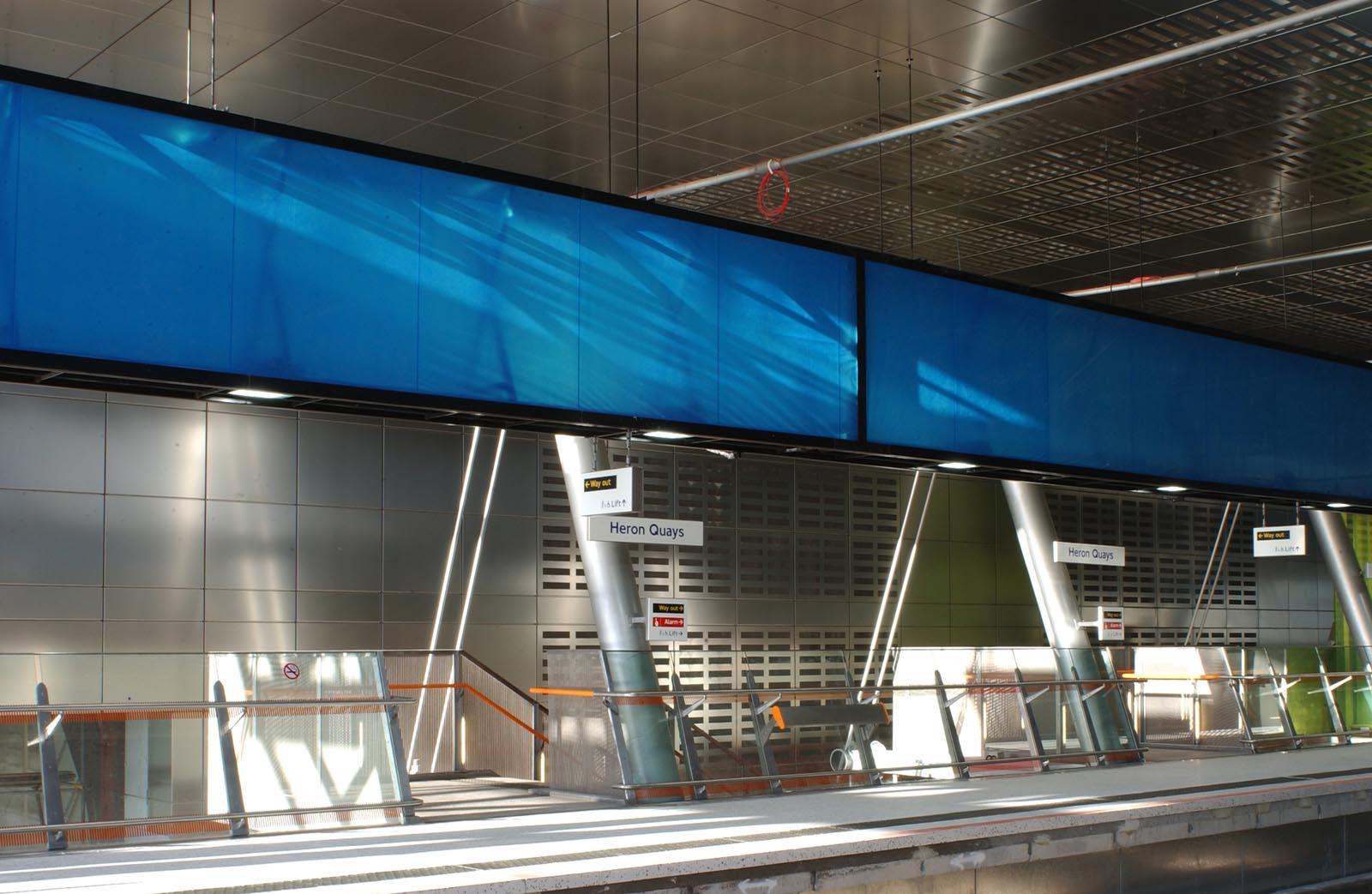 Heron Quays Station Architecture - London UK