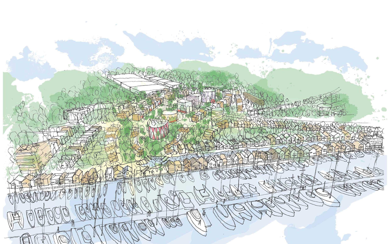 Purfleet masterplan sketch