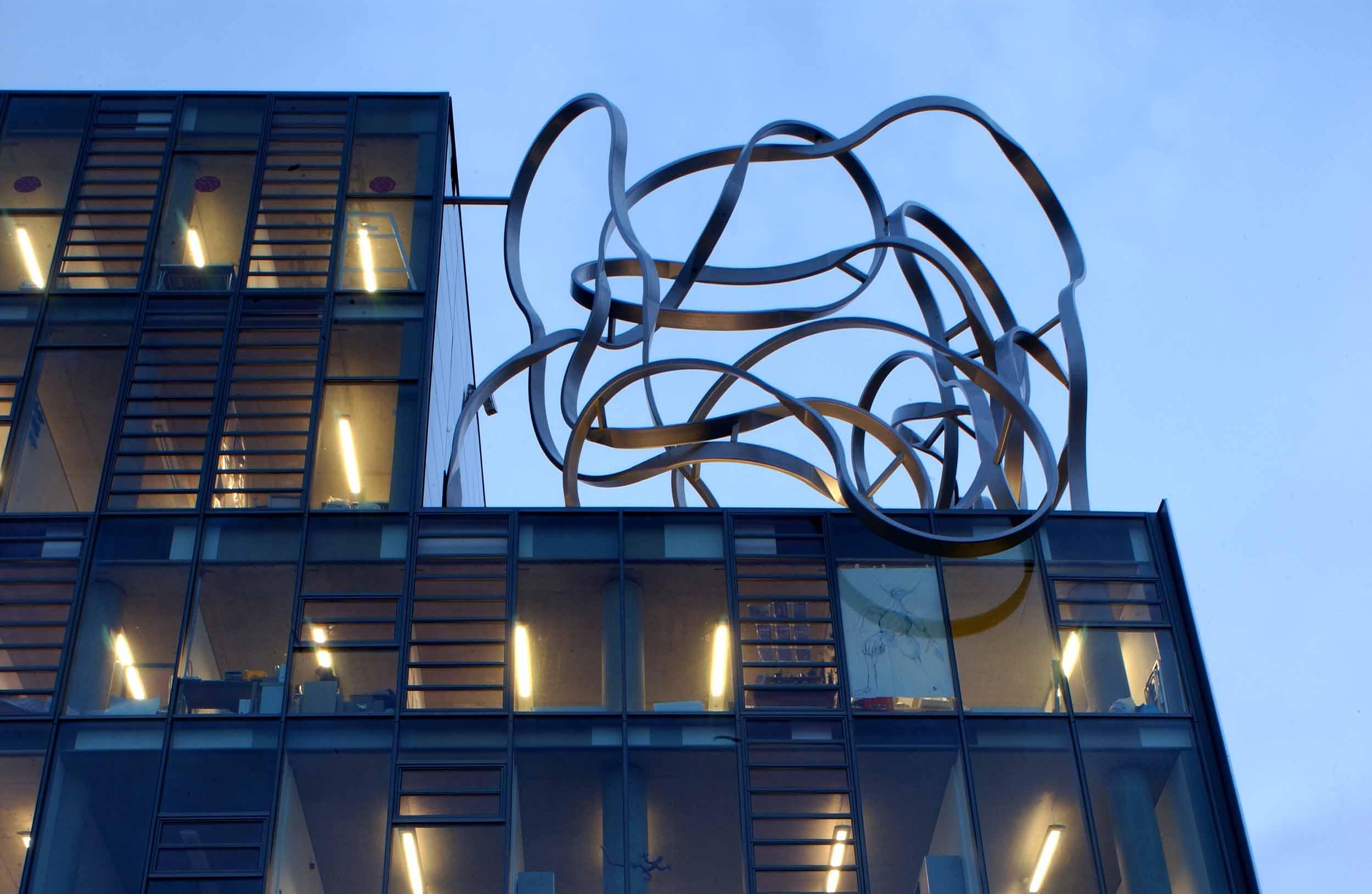 Goldsmiths London UK Roof Sculpture