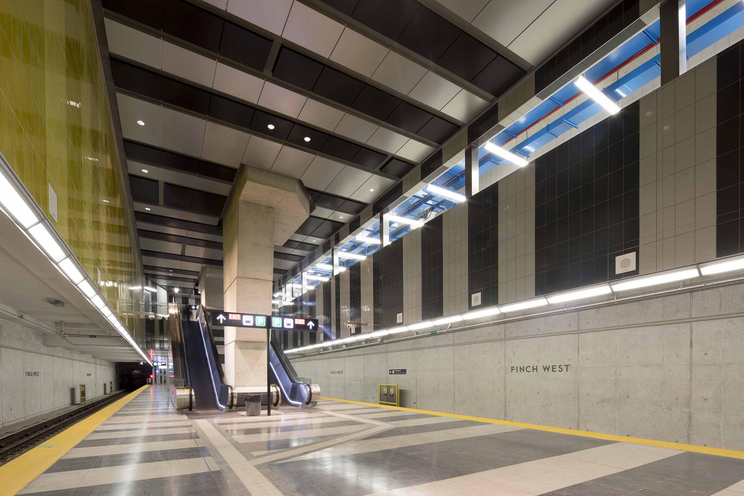 Finch West Station Interior Design
