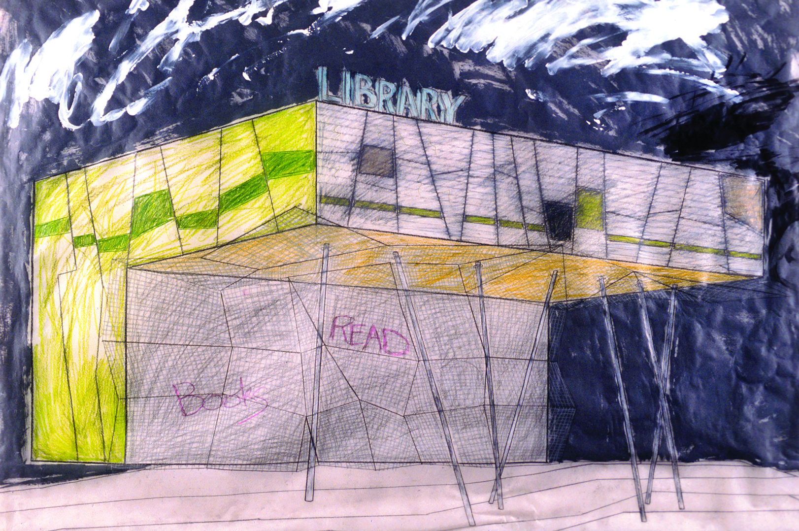 Peckham Library Drawing Will Alsop