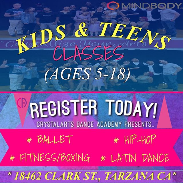 🚨 ENROLLING KIDS/TEEN CLASSES NOW! ALL CLASSES STARTING AUG. 5Th. SIGN UP TODAY THROUGH OUR @Mindbody APP!! Come out and join us!✨ . For more information 📞(818)578-8417  WWW.CRYSTALARTSDANCE.COM