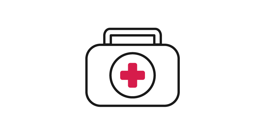 14 suitcases - meds & supplies