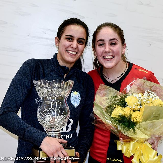 Congratulations to Cleveland Classic 2019 winner @noureltayeb and finalist @tesnievans #clesquash #clevelandclassic2019 photos @andreadawsonphoto