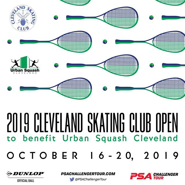 Join us for the 5th Annual Cleveland Skating Club Open Men's PSA tournament. More details in link in bio