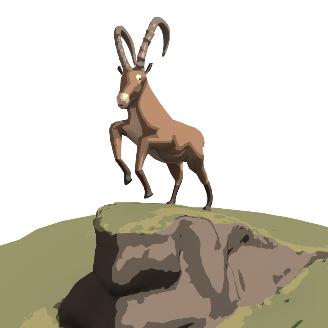 About low poly animals, textures and billboards