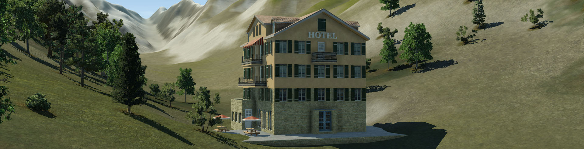 a Hotel close to the Aletsch Glacier