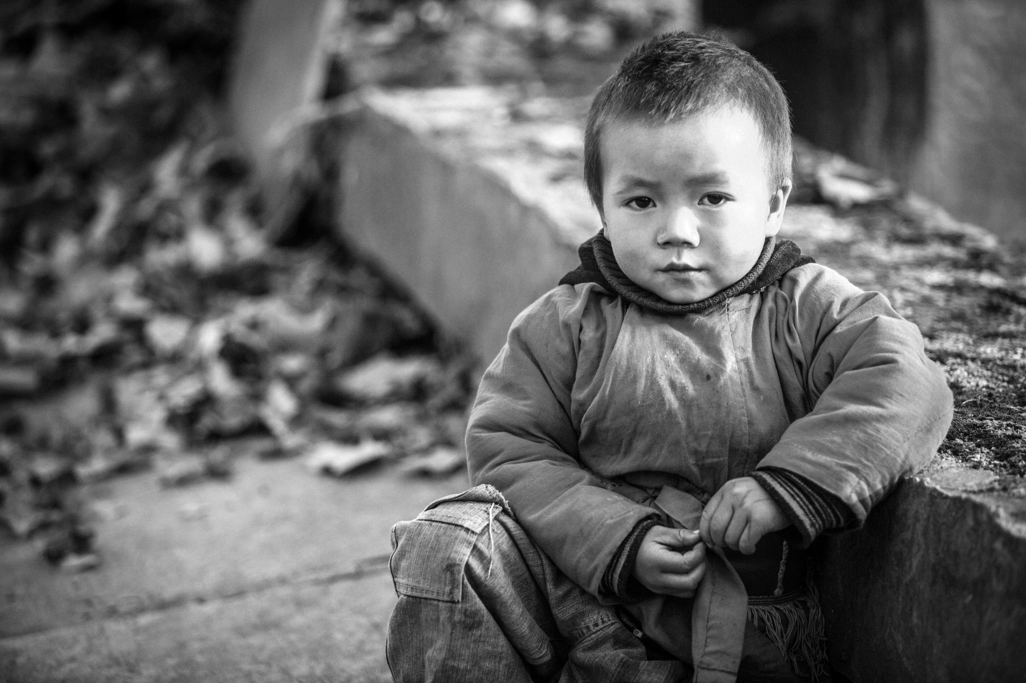 A young Miao boy who warmed up to me as I approached him with my camera...