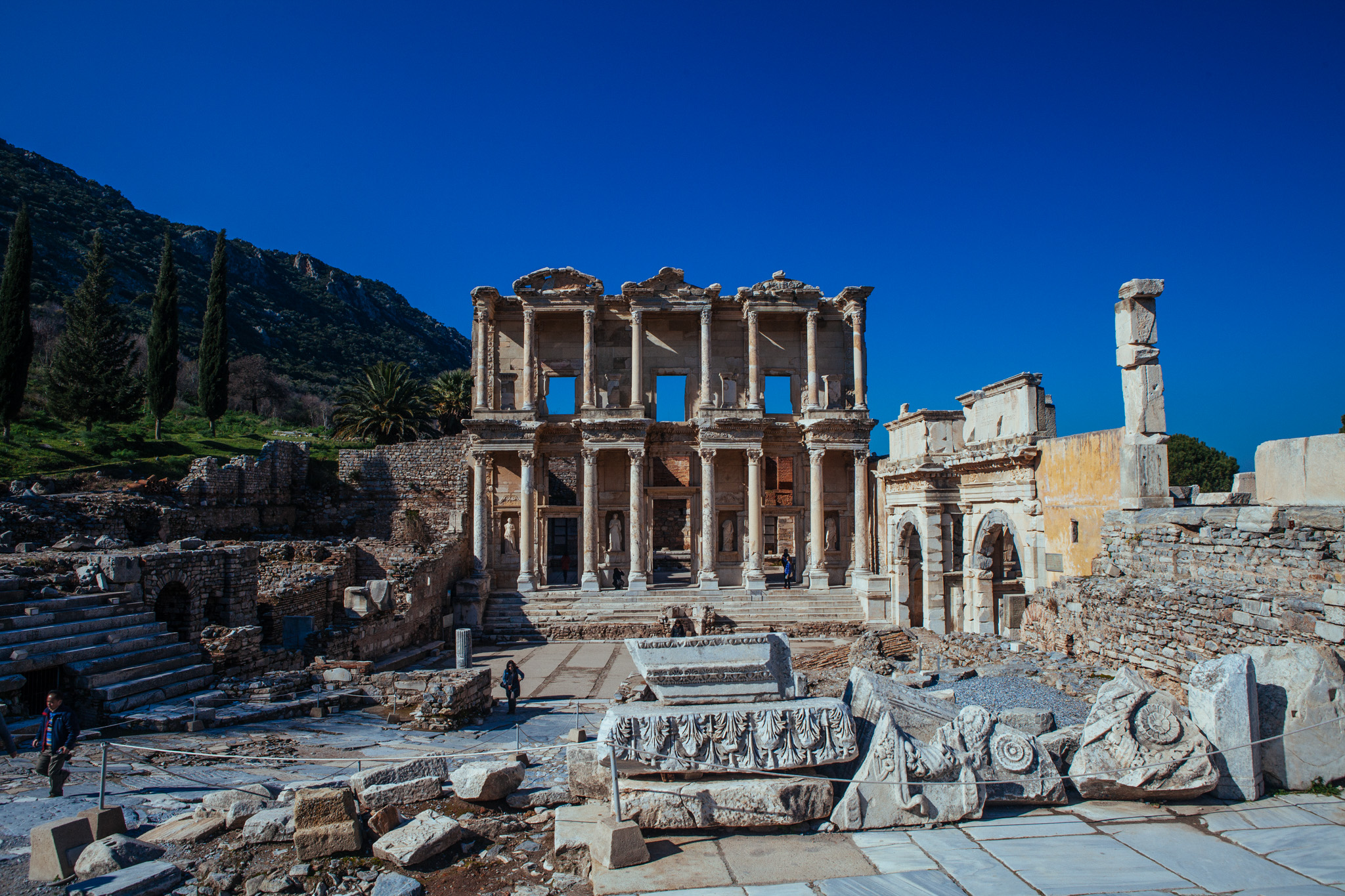 Site of the Library of Celsus . Ephesus