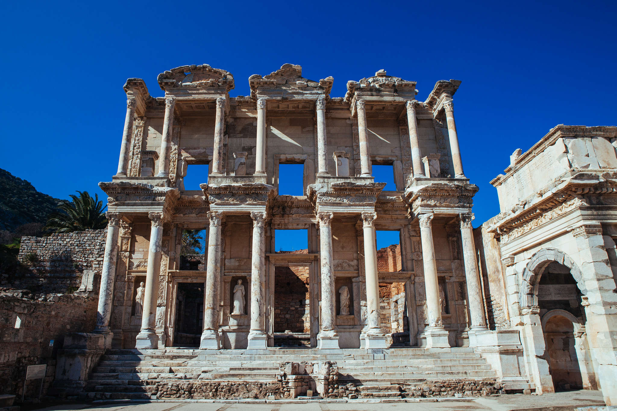 The Library of Celsus . Ephesus