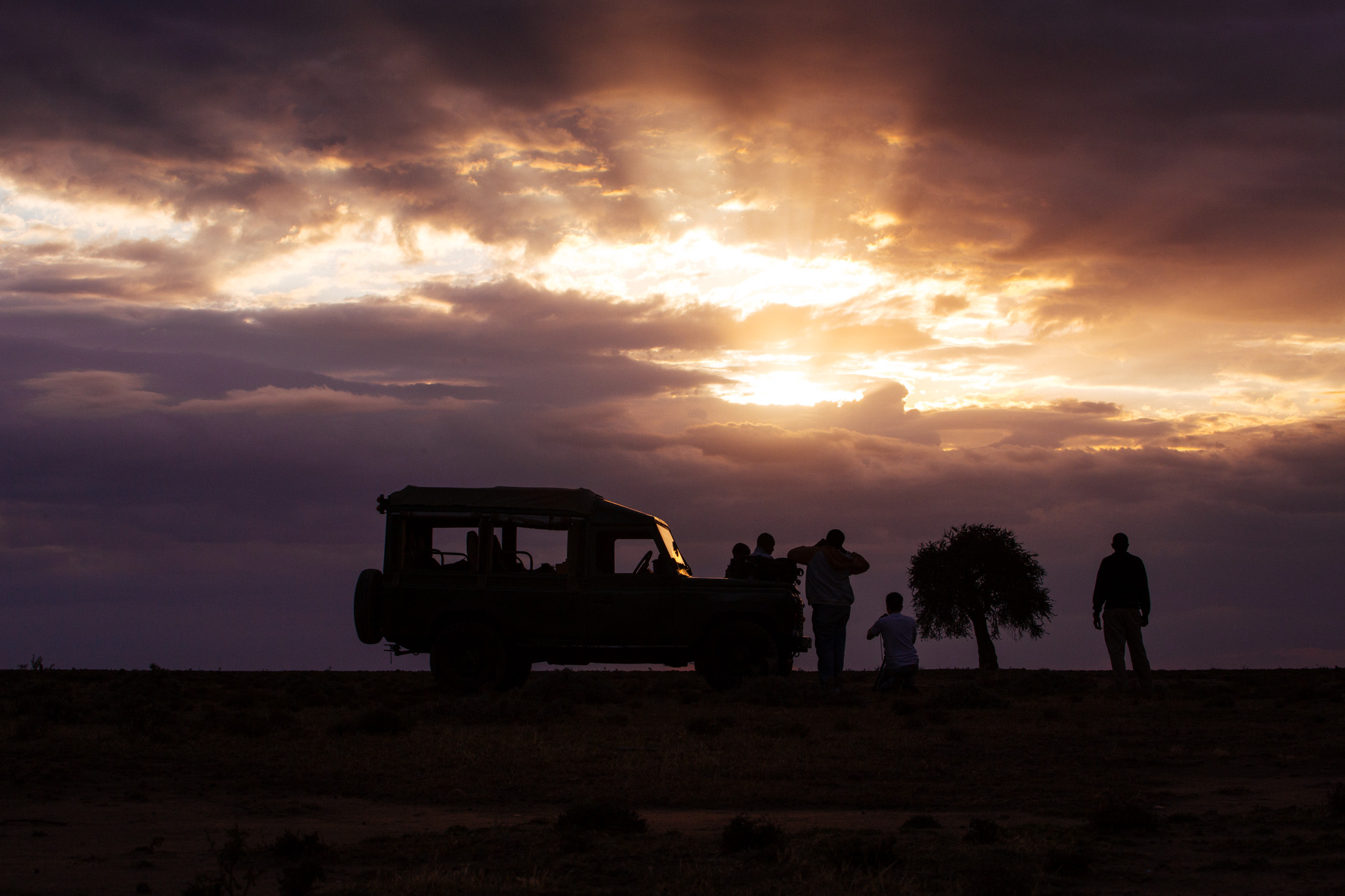 Filming the African Sunset…