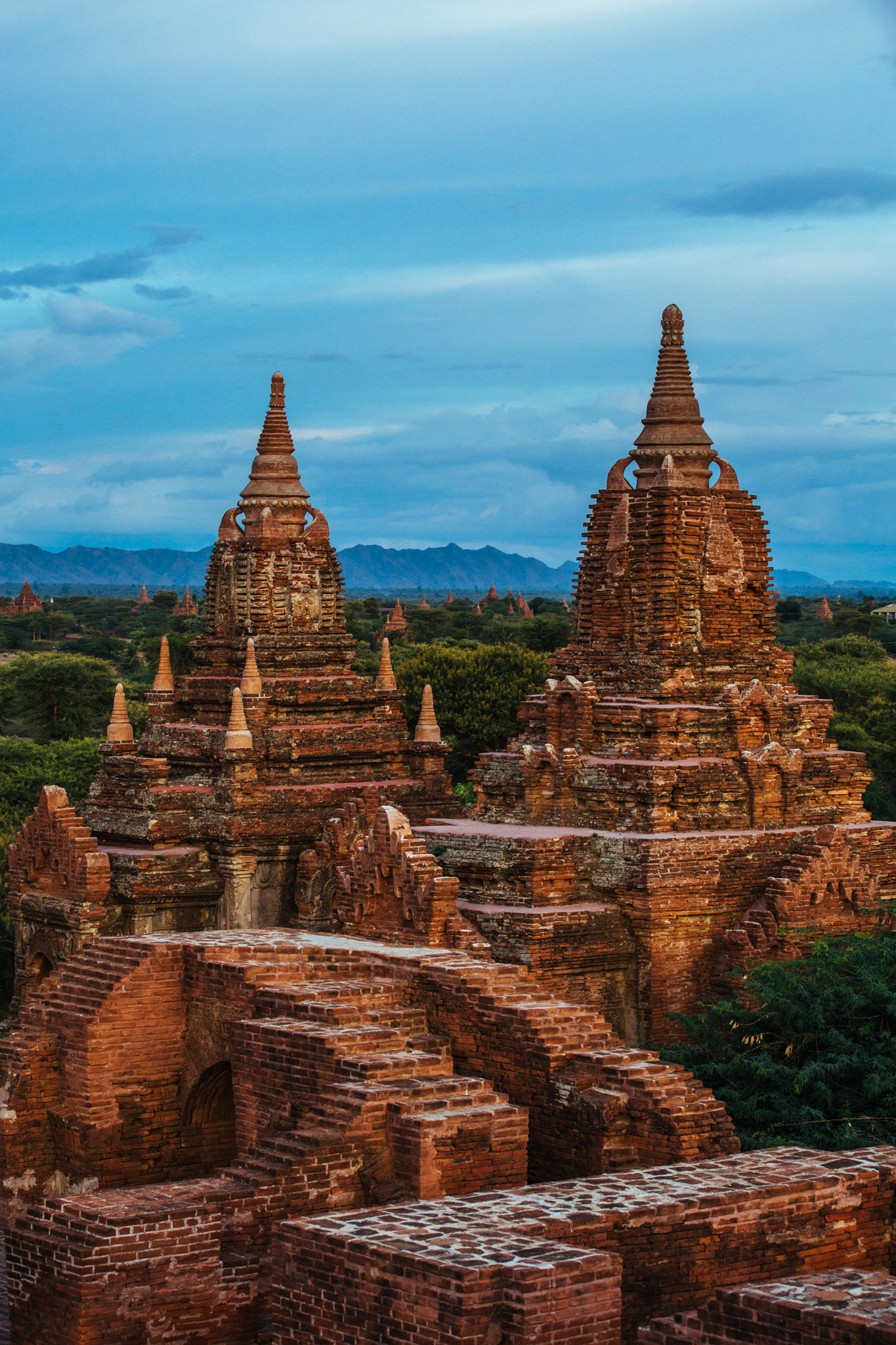 These are the hollow Gu-style temples that adorn most of this ancient landscape. They were built extensively from 1044 to 1287 and over the course of 250 years, Bagan's rulers and their wealthy subjects constructed well over 10,000 religious monuments