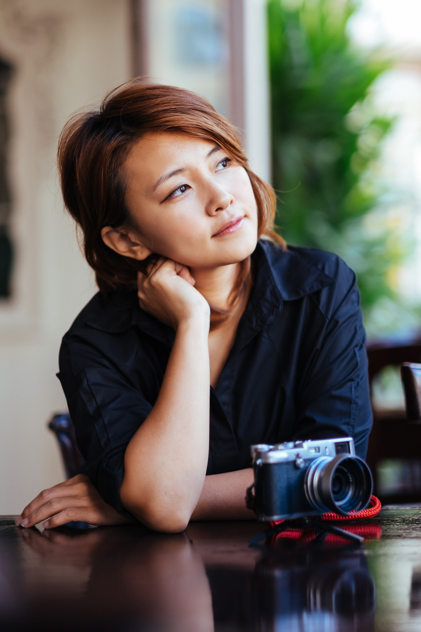 Cherry takes over my new Fuji X100S that I brought along for the trip.  Fujifilm X-T1 + XF56mm F1.2