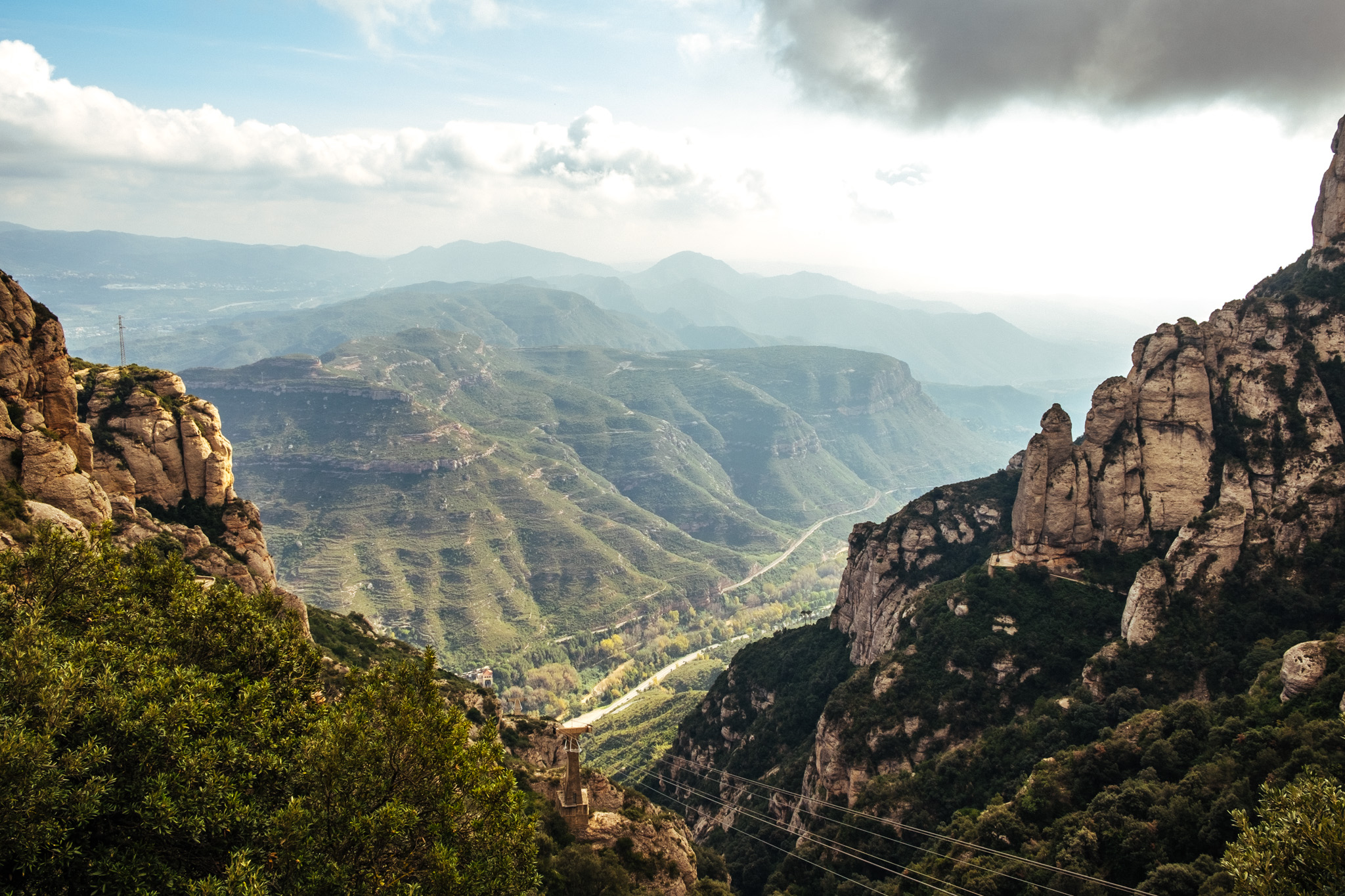 The view from Montserrat.