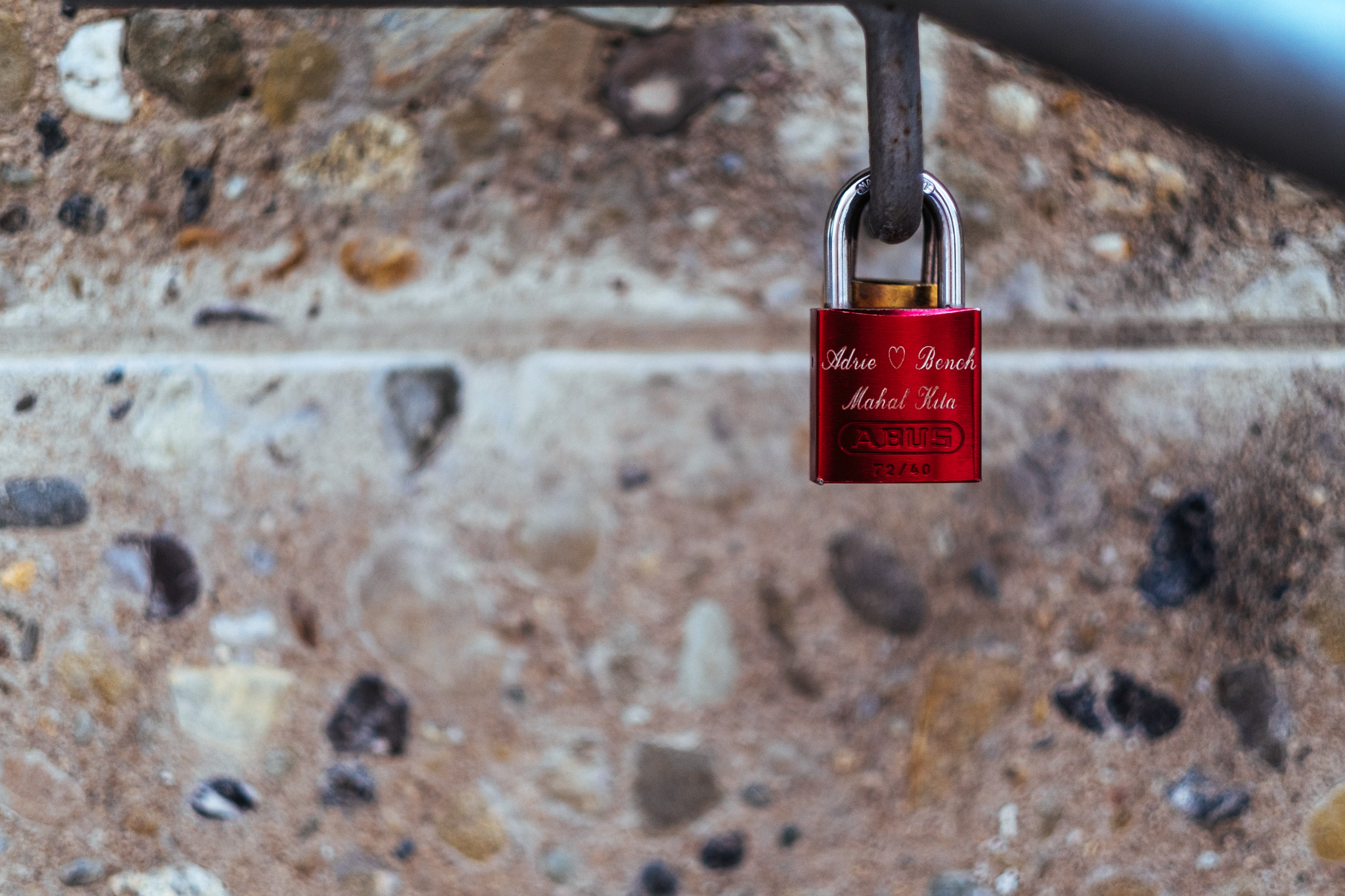 Found this little lock probably left by a couple from the Philippines because Mahal Kita means I Love You in Tagalog.