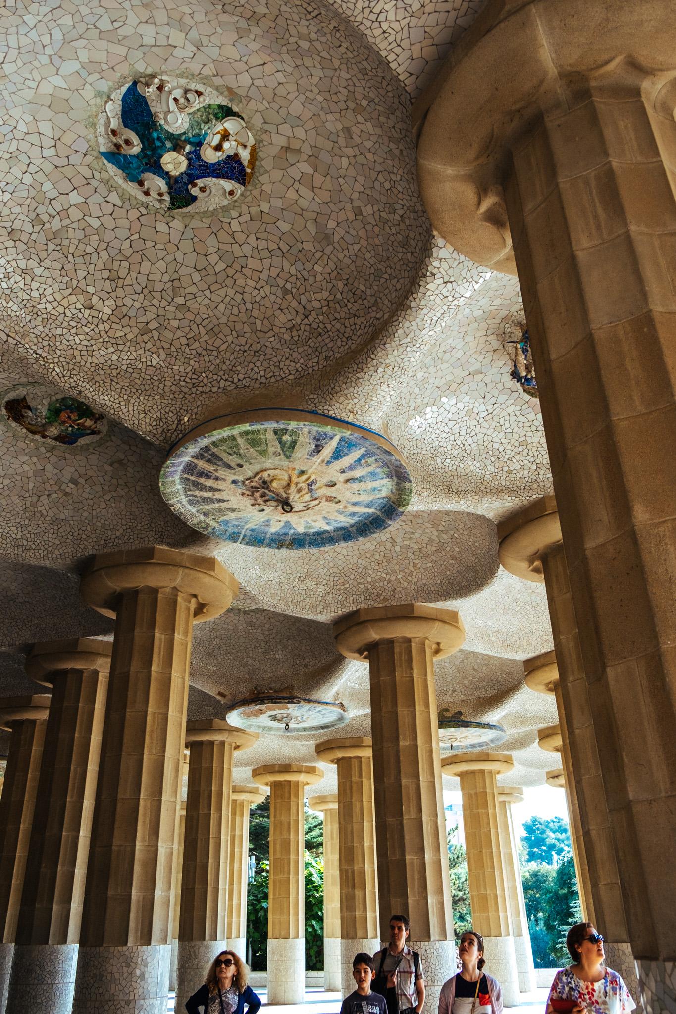 Park Güell - with its distinctive Gaudí signature look.
