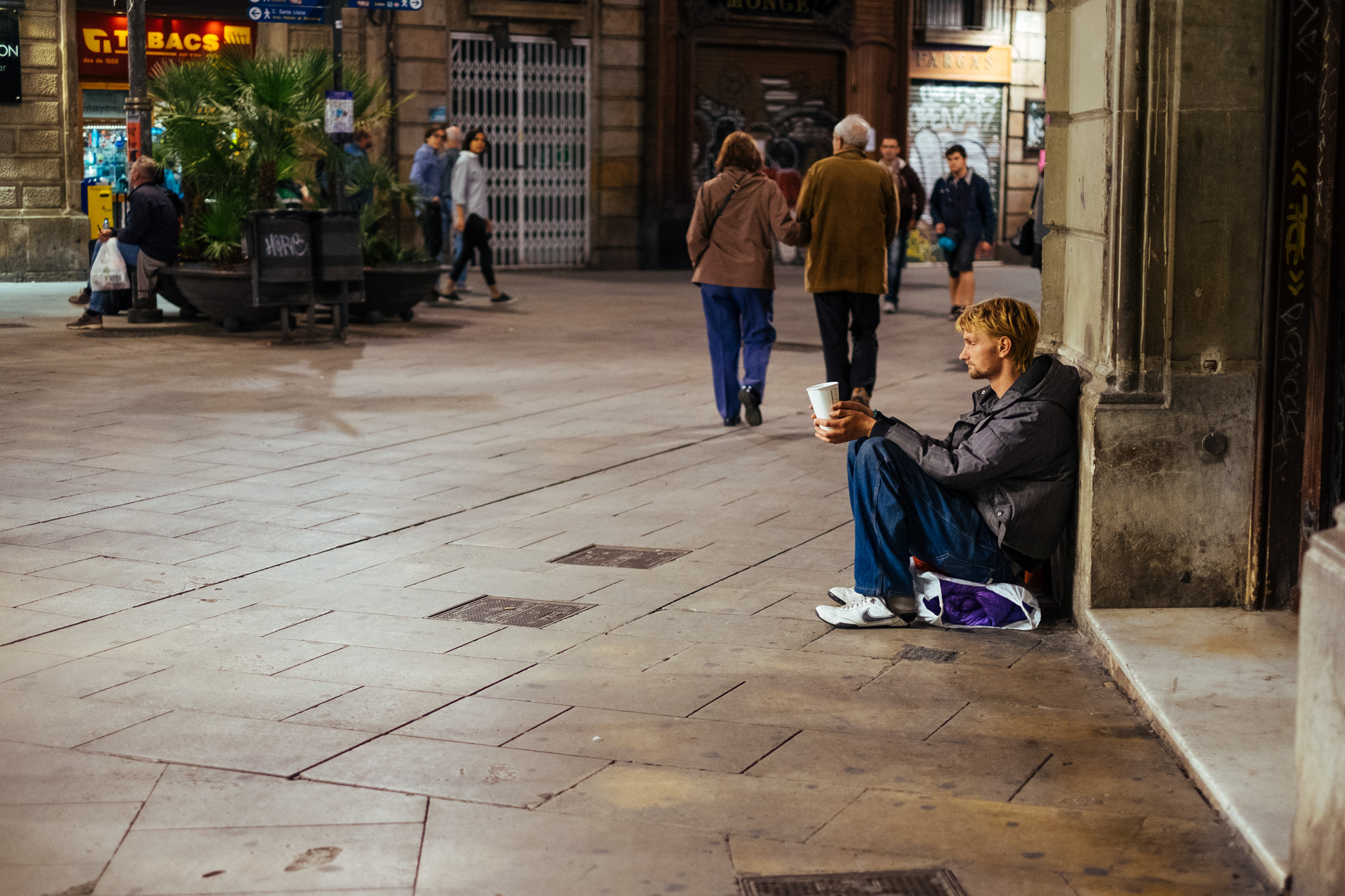 Like many of the big European cities now, homeless folks are a common sight and it saddens me to see these folks who are displaced often through conflicts and war.