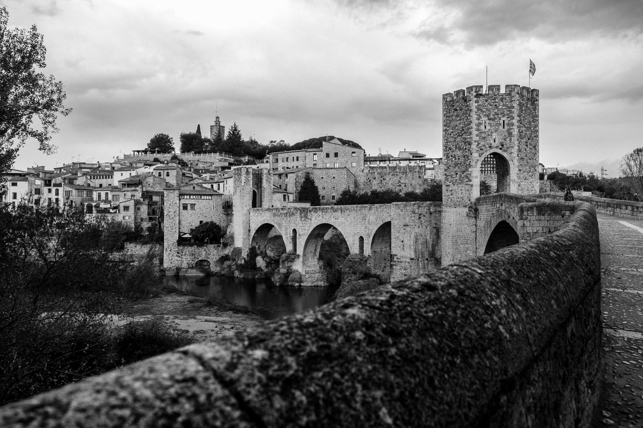 The medieval town of Besalú in Girona, Catalonia.