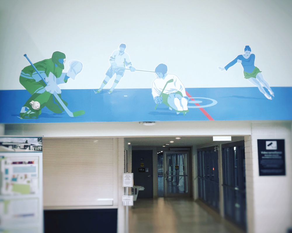 Ice Sports mural