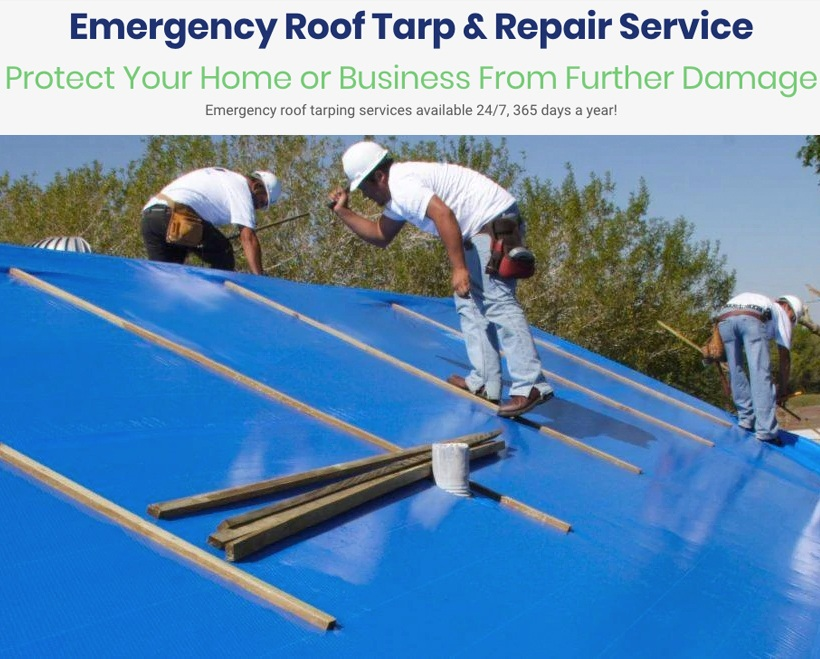 Emergency Roof Tarp Hurricane Damage Repair Belacris Construction And Roofing