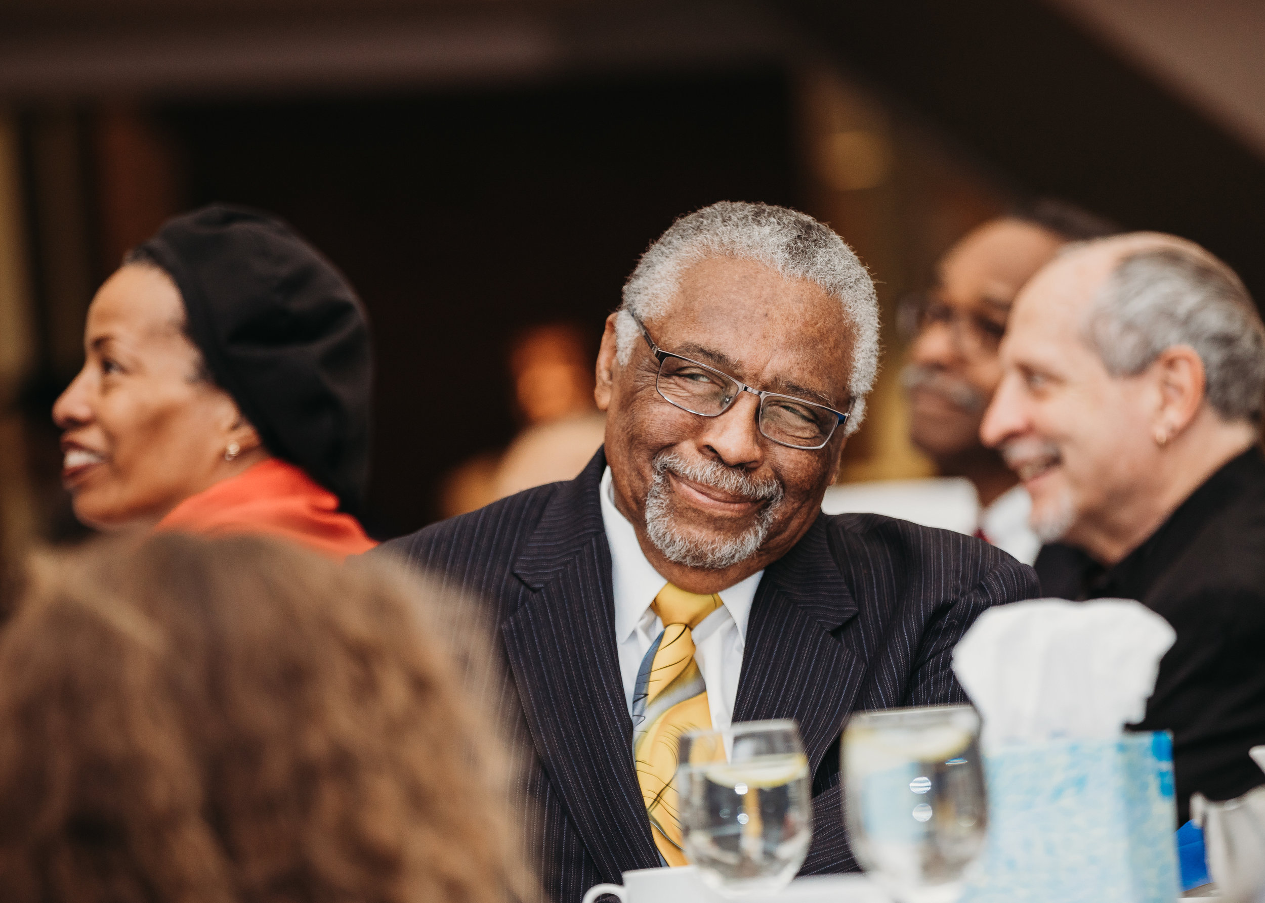 Earl Avery at the MLK luncheon where he was presented with an award for his dedication to the institution. Boston corporate and higher education photography.