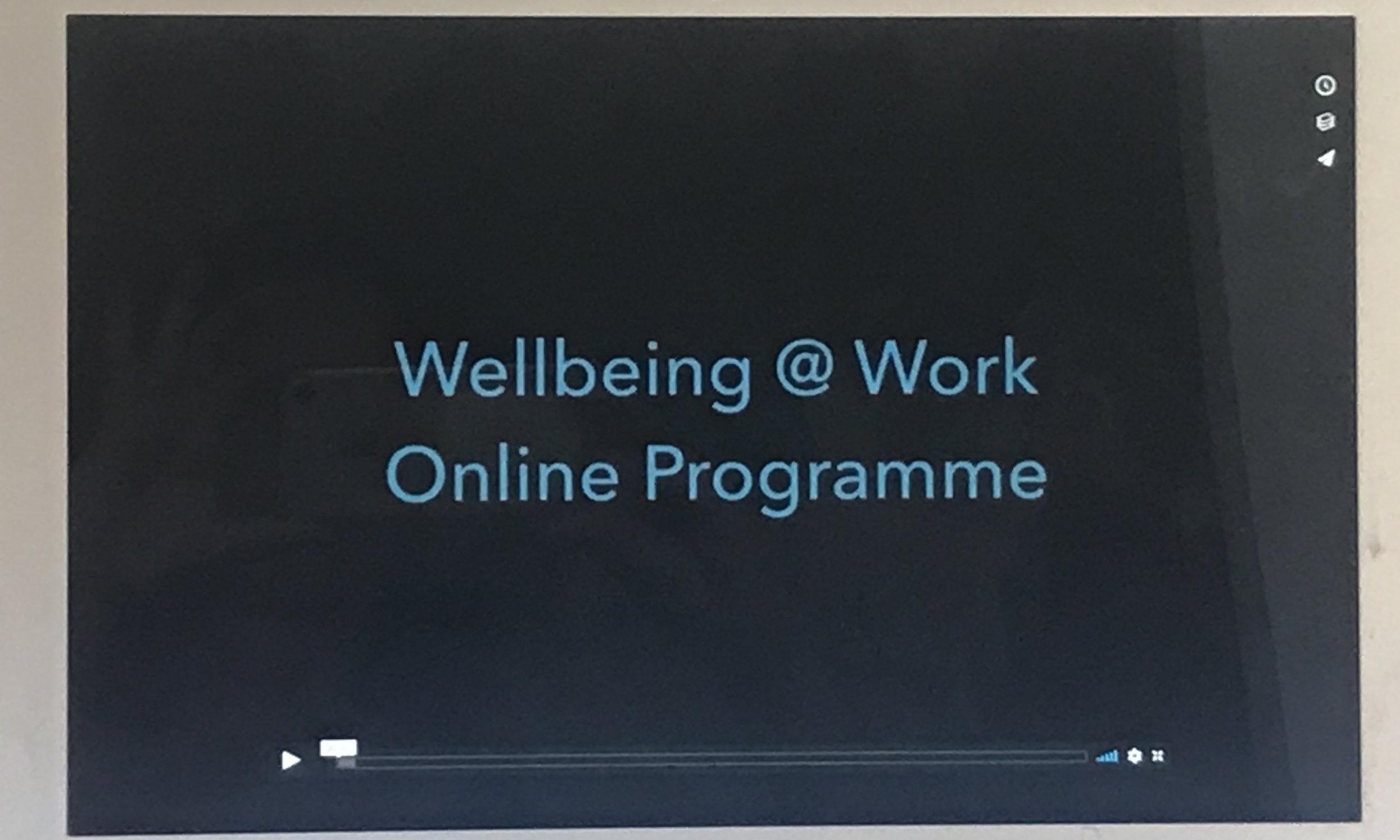Wellbeing at Work Webinars