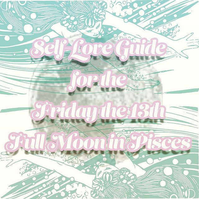 I'm so excited for the Full Moon on Friday the 13th! Everyday is a great day to practice self-love and self-care, but this Friday is extra potent!  Scroll through to see ways of honoring yourself using the energy of this magical day! 🌕♓ . . . . . . . . #fullmoonpisces #fridaythe13th #fullmoon #autumnequinox #harvestmoon #astrology #jupiter #neptune #pisces #venus #selflove #selfcare #ritual #creativity #beauty #release