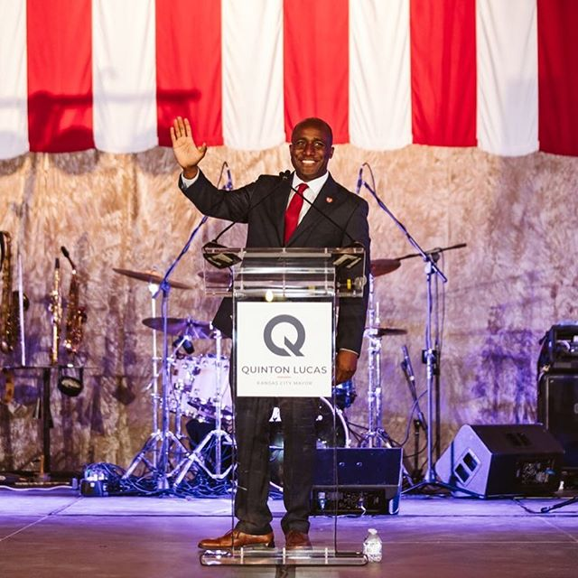 I love you Kansas City! Thank you for a great inaugural celebration this evening. #MayorQ #Inauguration 📸 @blkcoffeephoto