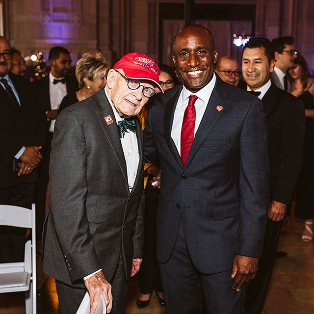 A very happy 93rd birthday to Charles Wheeler! He made it out to the inauguration ceremony and our inaugural cocktail party last Saturday. #kcmayor #MayorQ