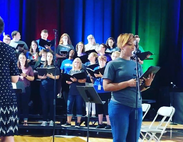 There are so many amazing things happening in @nkcschools . I had a great time with thousands of faculty and staff yesterday at convocation. I look forward to an outstanding school year. Oh, and the voices on the staff choir! We're lucky to have our teachers and staff. Good luck this year to you all! #KCMO #KansasCity #Schools #PublicSchools