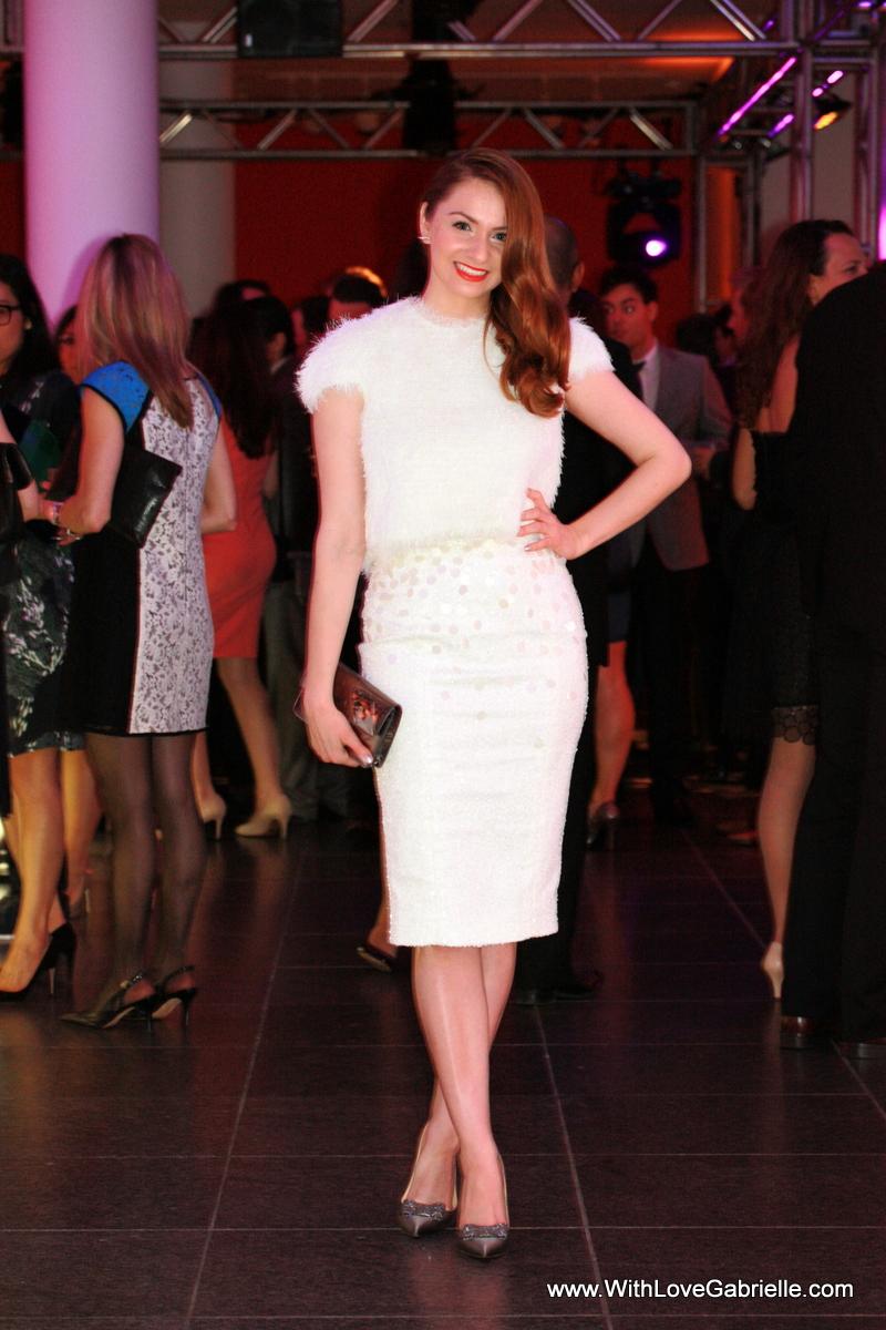 I AM WEARING:   DUY Skirt and Top // Kate Spade Leena Pumps // Marc Jacobs Clutch // Swavorski Aline Studs