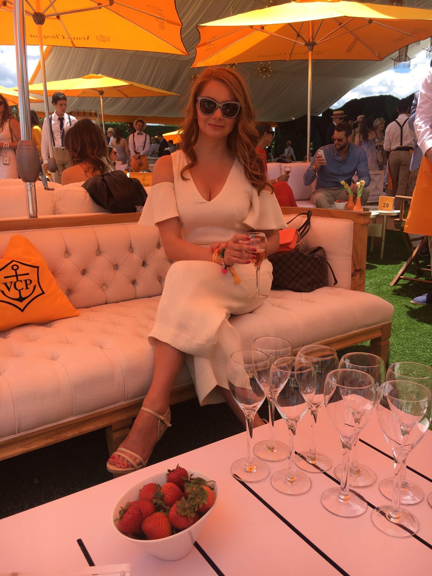 Outfit Details: Club Monaco Ropmer // Escada Sandals //       Jimmy Choo Sunglasses