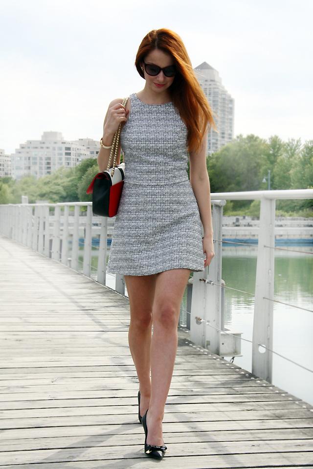 I AM WEARING:     Express    Skirt /    Express    Top /     Burberry      Pumps /    Christian Louboutin     Purse /    Valentino    Sunnies /     Hermes     Bracelet