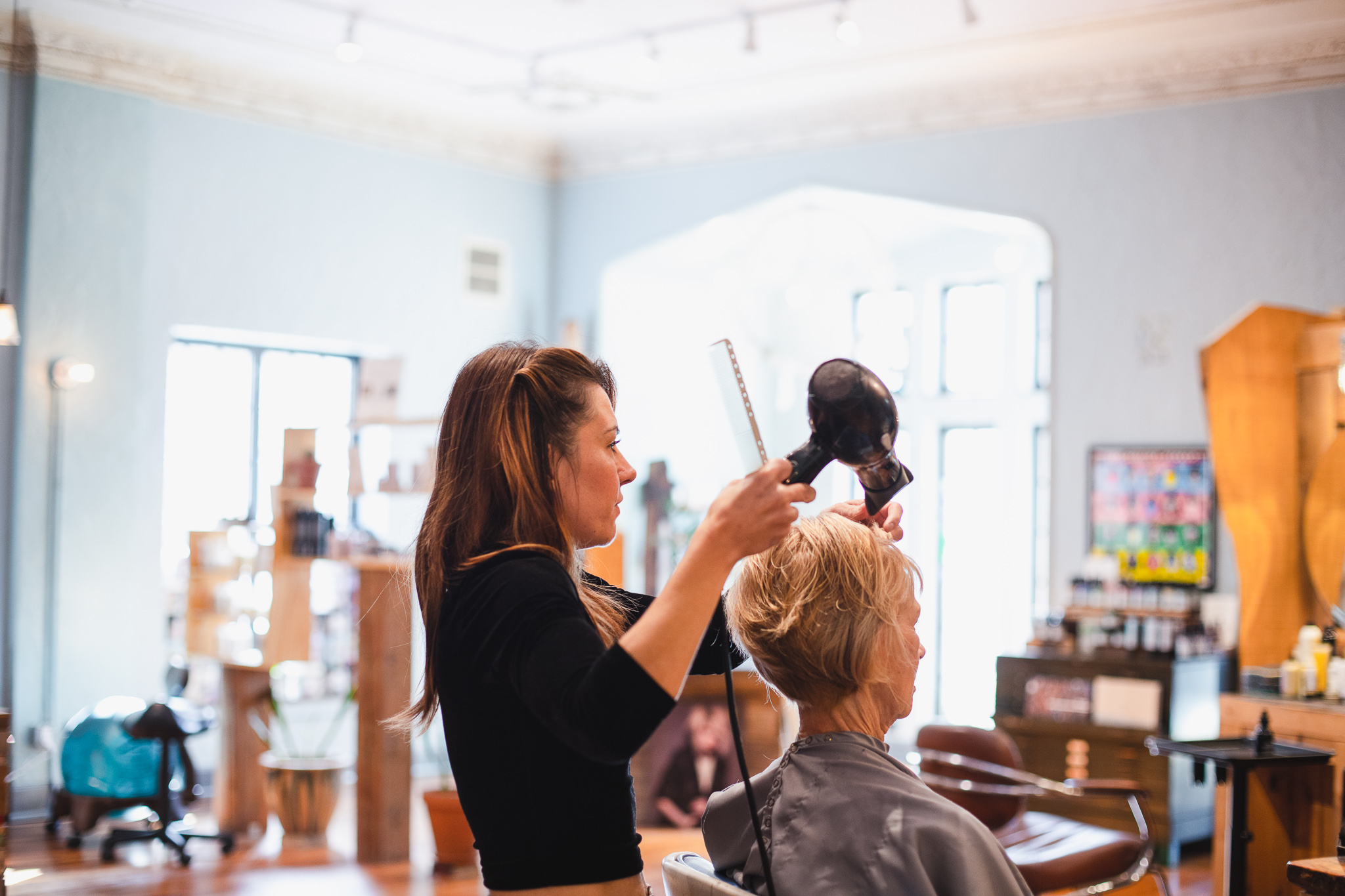 Book a consult, hair or styling appointment at our salon -