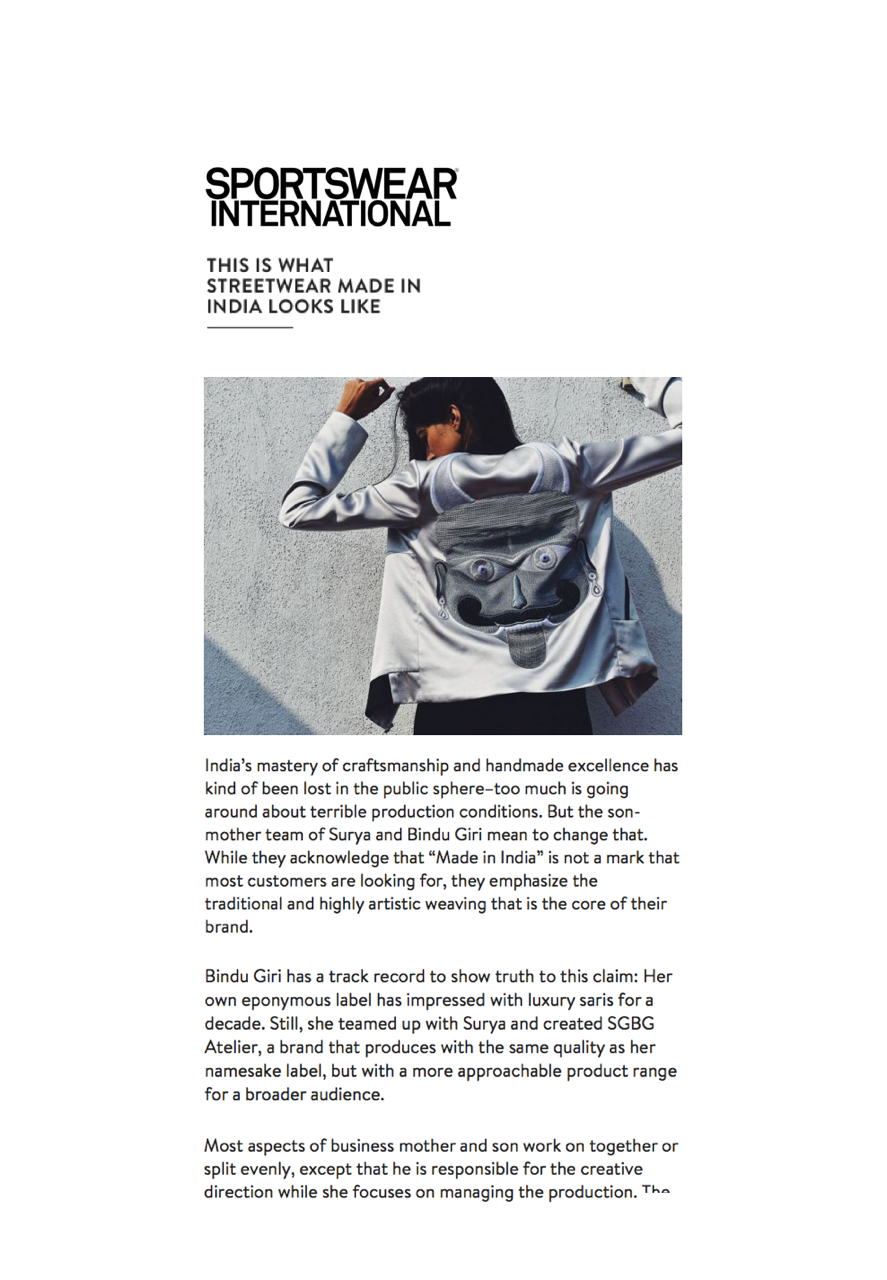 Sportswear International Magazine Online // LABEL TO WATCH